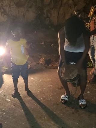 Drumming in Underground Caves
