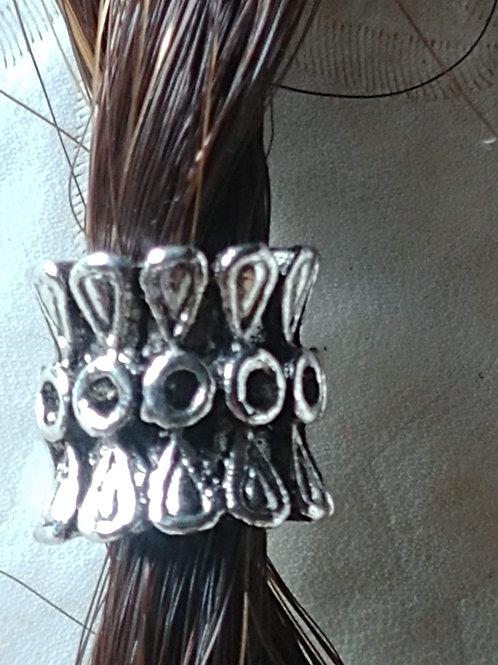 Silver Tone European  Bead