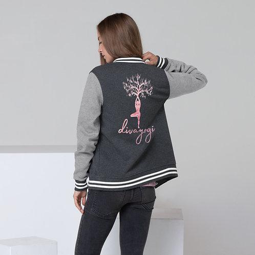 Ladies' Pink Divayogi Letterman Jacket