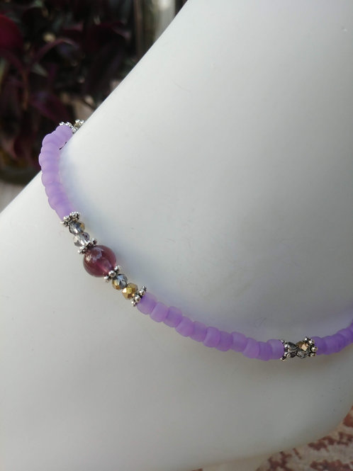 Handmade Anklet with Amyethest Bead