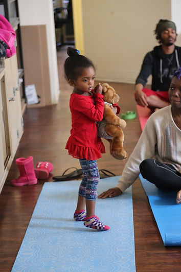 Children are always welcomed in our community yoga classes