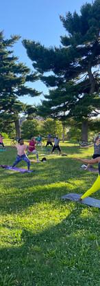 Outdoor Yoga Class in Baltimore.