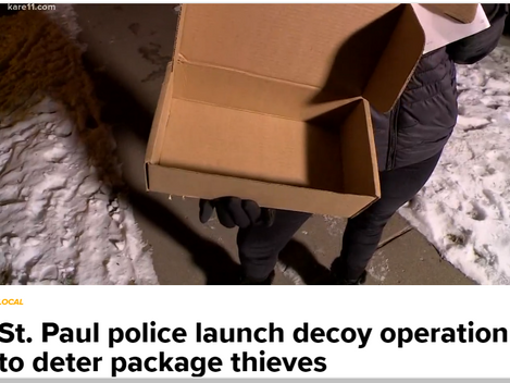 Local Crime Update: SPPD launch decoys to catch Porch Pirates