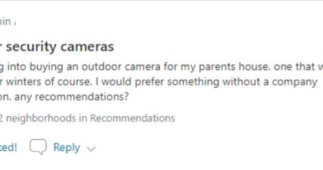 22+ Neighborhood Recommendations