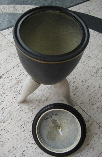 Basalt three legged Urn