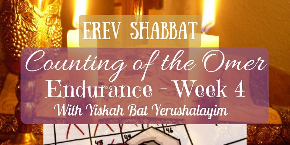 CANCELED Erev Shabbat Service & Endurance - Week 4 @ Yiskah Bat Yerushalayim's YouTube Channel
