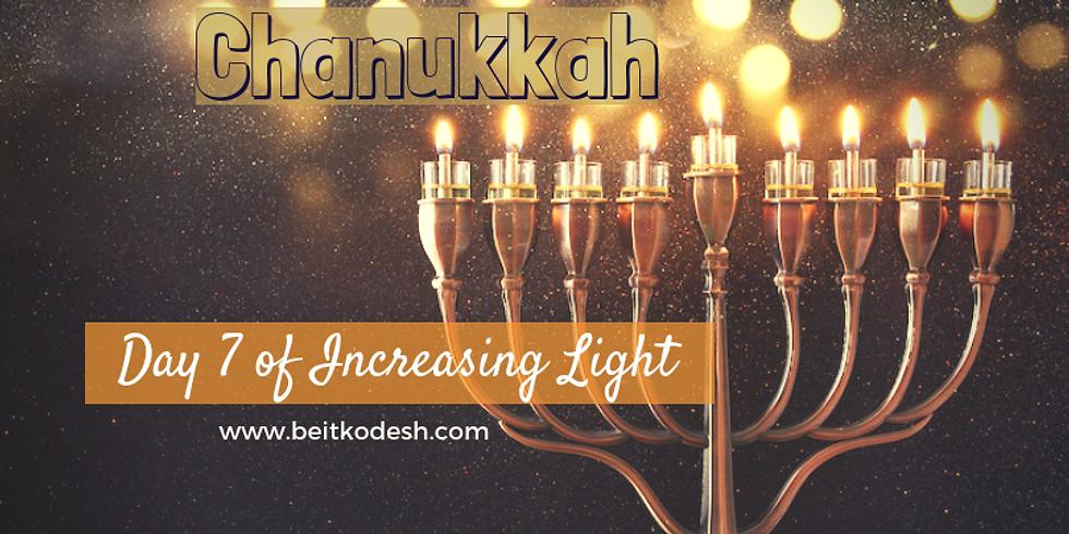 Chanukkah Day 7 LIVE @ Yiskah Bat Yerushalayim's YouTube Channel