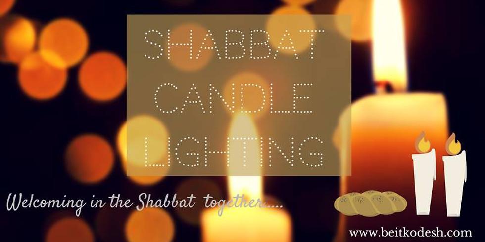 LIVE Shabbat Candle Lighting