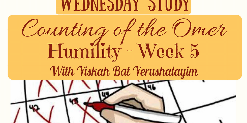 HUMILITY Week 5 @ Yiskah Bat Yerushalayim's YouTube Channel