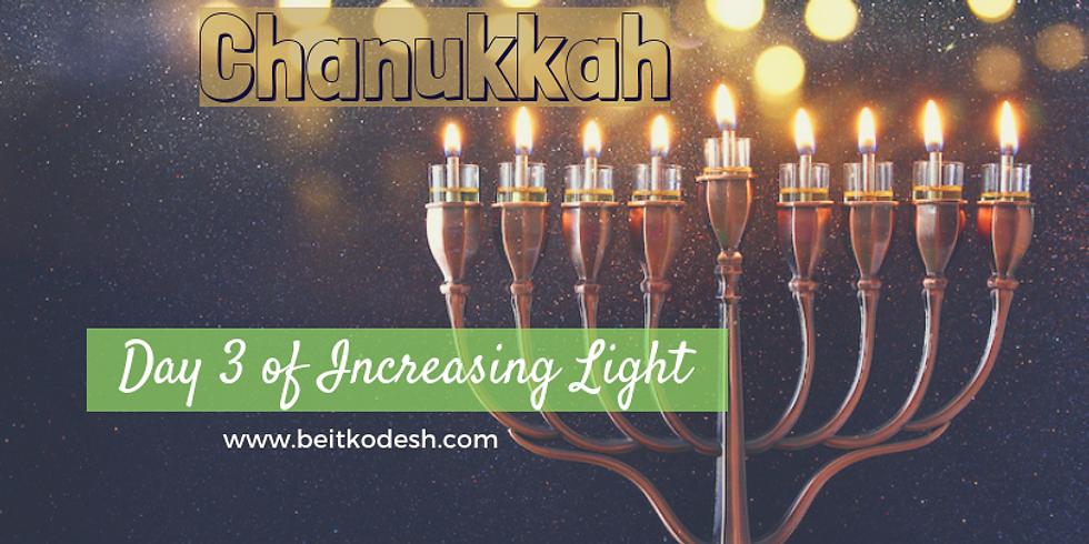 Chanukkah Day 3 LIVE @ Yiskah Bat Yerushalayim's YouTube Channel