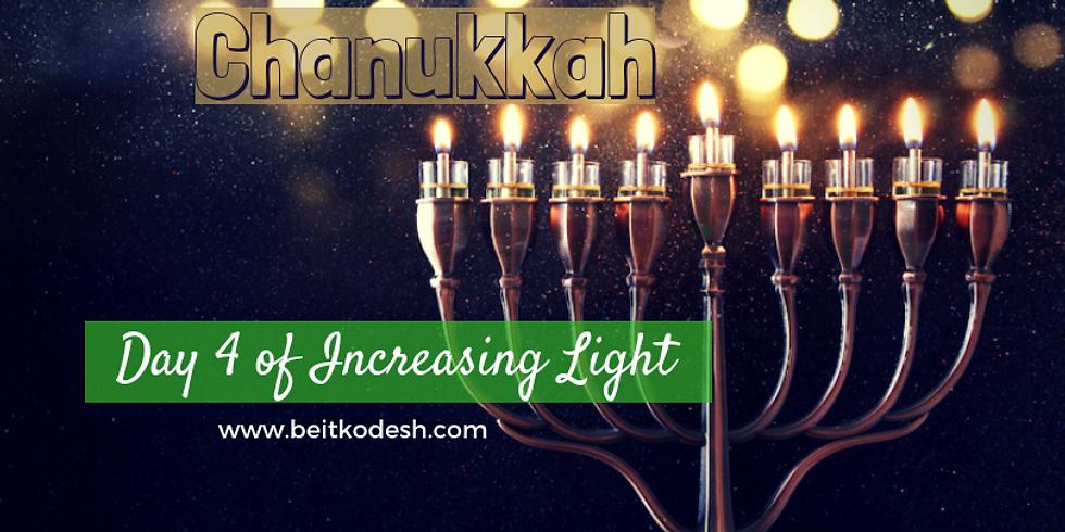 Chanukkah Day 4 LIVE @ Yiskah Bat Yerushalayim's YouTube Channel