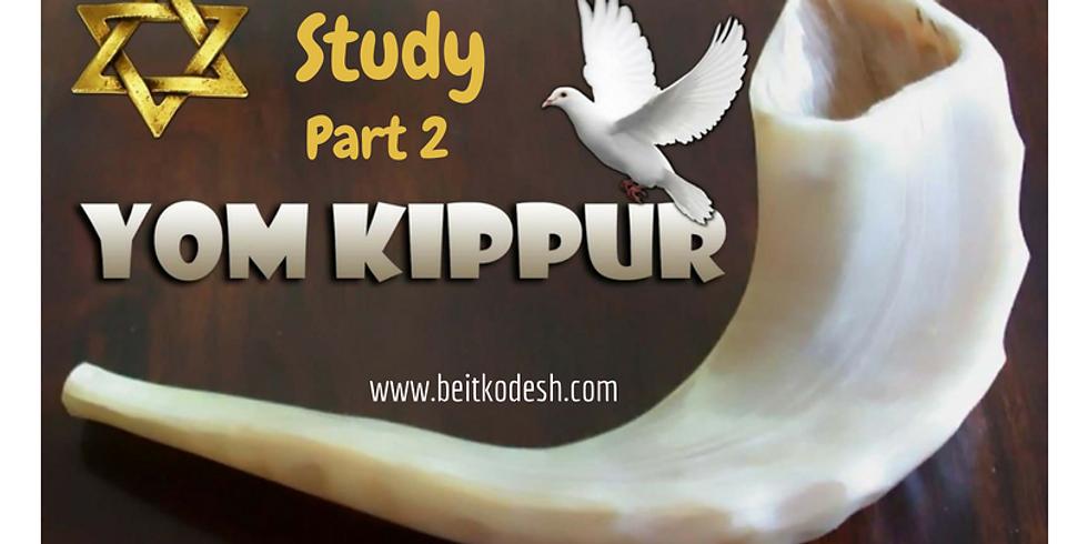 LIVE Yom Kippur Study - 12th September 2018