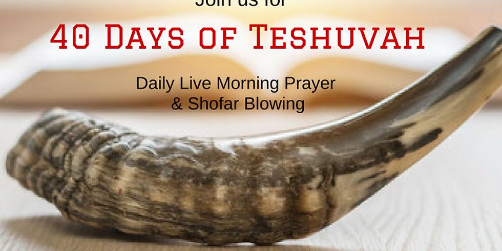 LIVE 40 Days of Teshuvah DAILY Morning Prayer 2018