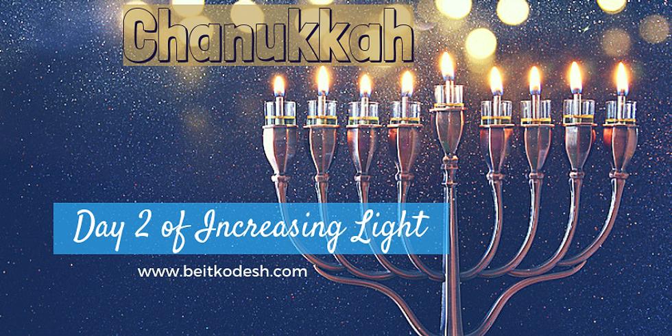 Chanukkah Day 2 LIVE @ Yiskah Bat Yerushalayim's YouTube Channel