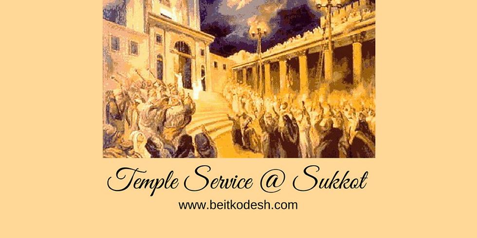 LIVE Study on Sukkot Temple Service