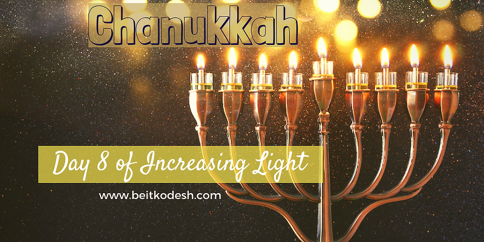 Chanukkah Day 8 LIVE @ Yiskah Bat Yerushalayim's YouTube Channel