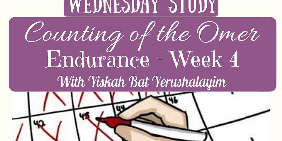 ENDURANCE Week 4 @ Yiskah Bat Yerushalayim's YouTube Channel