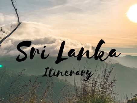 A 2-week Sri Lanka Travel Itinerary