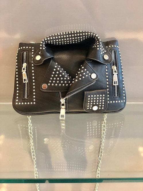 Black Leather jacket bag