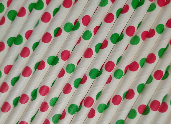 Red and green polka