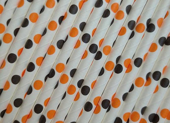 Orange & Black Polka Dot