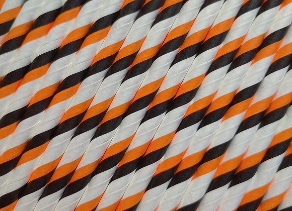 Orange & Black Candy Canes