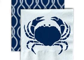 Beverage Napkins- Crab
