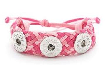 Suede Criss Cross Bracelet- Pink