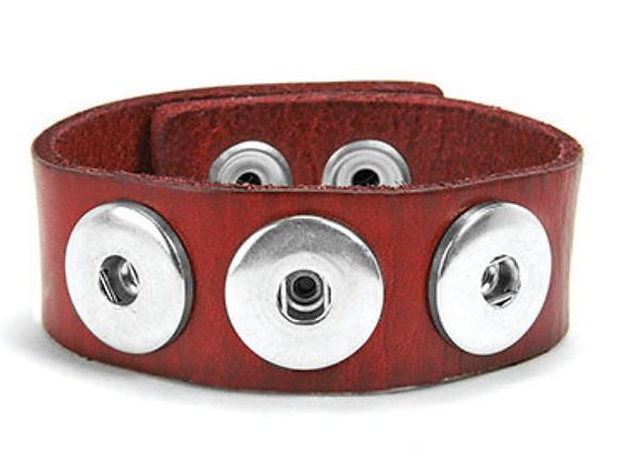 Leather Bracelet- Maroon