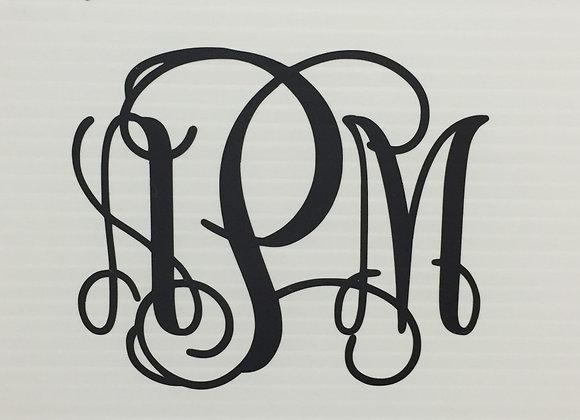 Monogram Sticker- Large