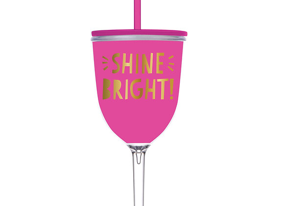 13 oz Shine Bright Wineglass