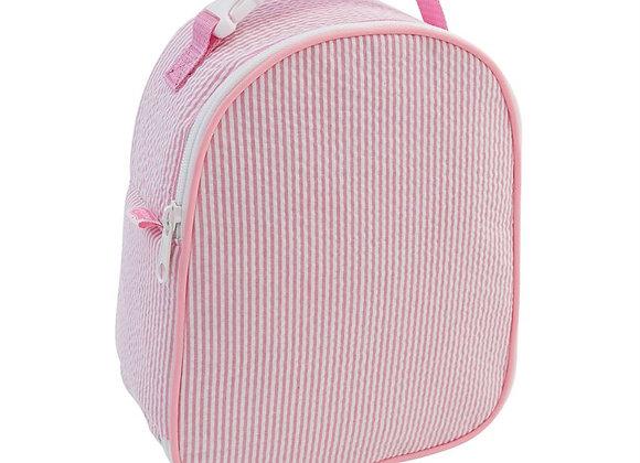 Pink Seersucker Lunchbox