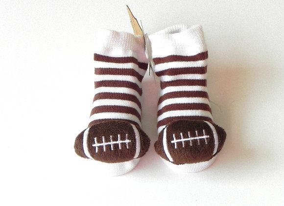 Football Rattle Toe Socks