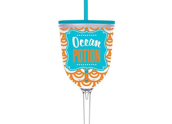 13 oz Ocean Potion Wineglass