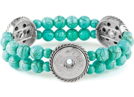 3 Snap Stretch Bracelet- Turquoise