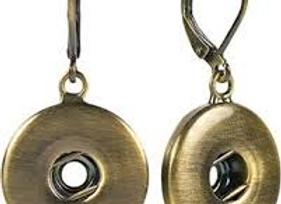 Antique Brass Leverback Earrings