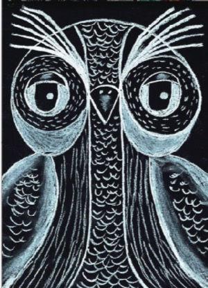 Black and White owl art