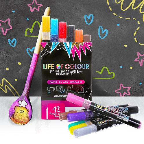 Glitter Paint Pens - Medium tip