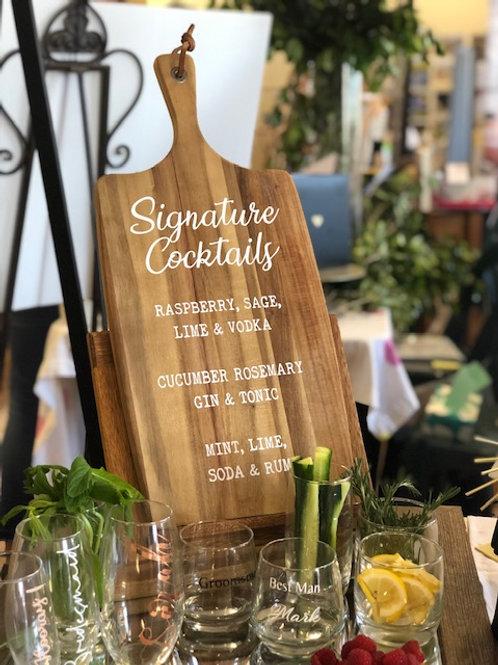 Custom cocktail boards