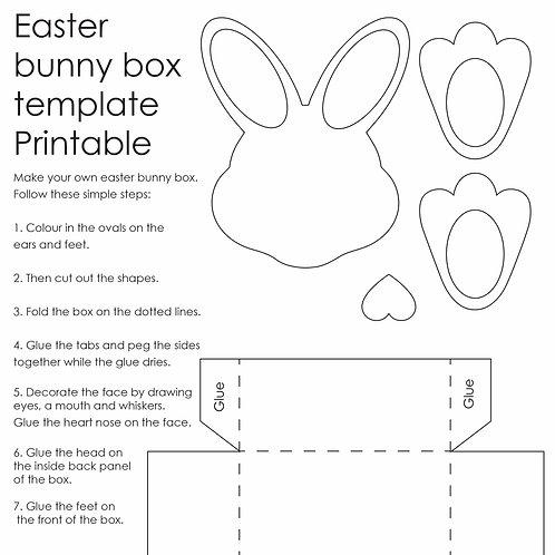 Printable bunny box template