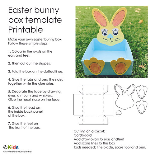 Cricut bunny box template