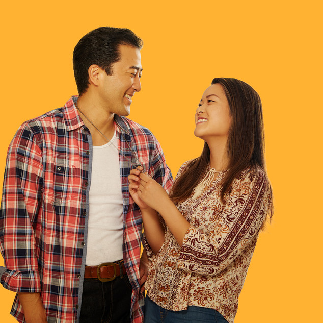 Jeff Kim & Sami Ma as Quang & Tong in Vietgone at American Stage. Photo by Joey Clay.