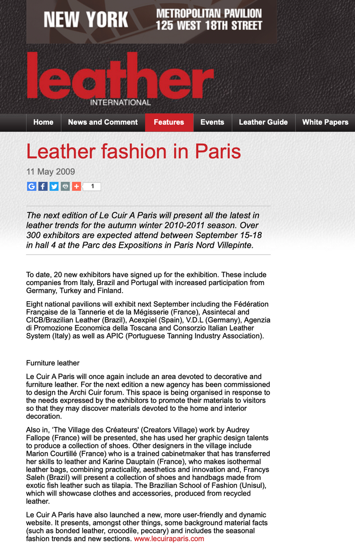 Leather Fashion in Paris