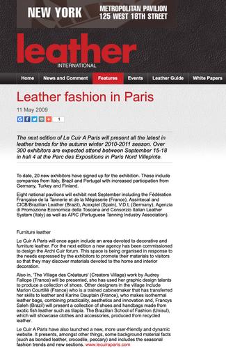 Leather Fashion in Paris