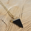 Thumbnail: Essential Oil Diffusing Necklace with Black Onyx Pendant and Lava Stone