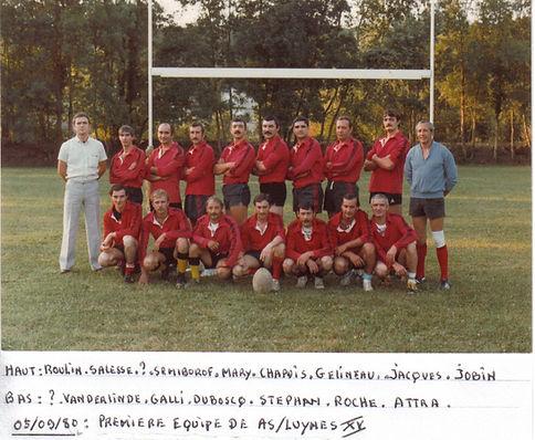 Première équipe AS Luynes