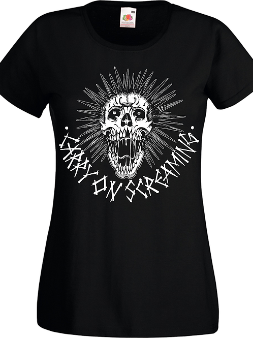 """Lady-Fit T-Shirt CARRY ON SCREAMING """"Skull"""""""
