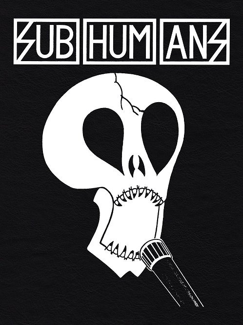 Faux Leather BackPatch SUBHUMANS