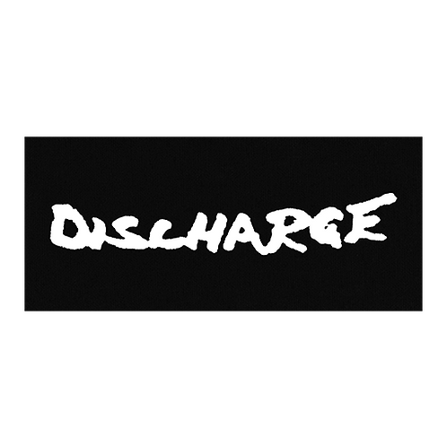 """DISCHARGE """"logo"""" PATCH"""