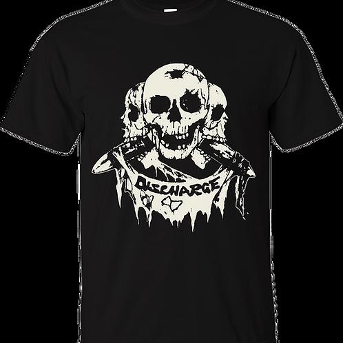 """T-Shirt DISCHARGE """"3 Skulls"""""""